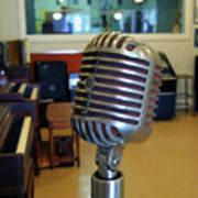 Elvis Presley Microphone Art Print