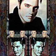Elvis Presley Montage Art Print