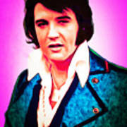 Elvis Presley The King 20160117 Art Print
