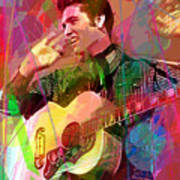 Elvis Rockabilly  Art Print by David Lloyd Glover