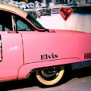 Elvis's Pink Cadillac Art Print