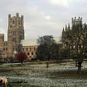 Ely Cambridgeshire, Uk.  Ely Cathedral  Art Print