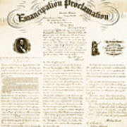 Emancipation Proclamation Art Print by Photo Researchers