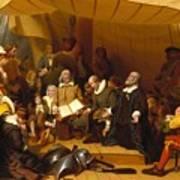Embarkation Of The Pilgrims Art Print
