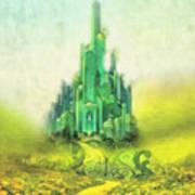Emerald City Art Print by Mo T