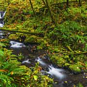 Emerald Falls And Creek In Autumn  Art Print