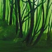 Emerald Forest. Art Print