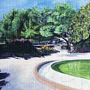 Emerald Fountain Art Print