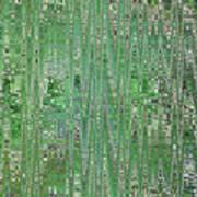 Emerald Green - Abstract Art Art Print
