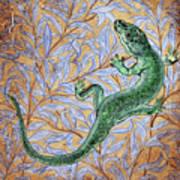 Emerald Lizard Art Print