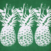 Emerald Pineapples- Art By Linda Woods Art Print
