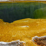 Emerald Pool Yellowstone National Park Art Print