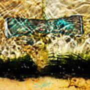 Emerald Ripples Art Print