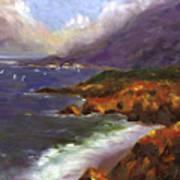 Emerald Surf Art Print
