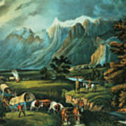 Emigrants Crossing The Plains Art Print