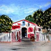 Emiles Road Side Grocer Art Print