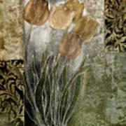 Emily Damask Tulips II Art Print