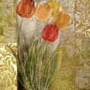 Emily Damask Tulips IIi Art Print