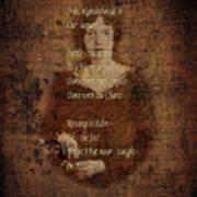 Emily Dickinson 4 Art Print
