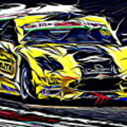 Emily Linscott On The Racetrack - Ginetta Junior Championship Art Print