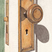 Emily's Door Knob Art Print
