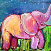 Emily's Elephant 2 Art Print