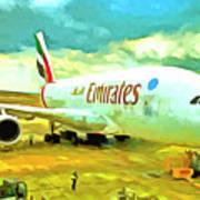 Emirates A380 Airbus Pop Art Art Print