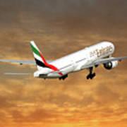 Emirates Boeing 777-36n 2 Art Print