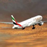 Emirates Boeing 777-36n 3 Art Print