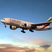 Emirates Boeing 777f A6-efm Art Print