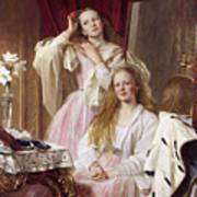 Emma And Federica Bankes Of Soughton Hall  Art Print