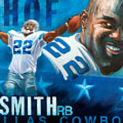 Emmit Smith Hof Art Print