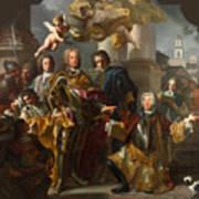 Emperor Charles Vi And Gundacker, Count Althann Art Print