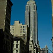 Empire State Building Seen From Street Art Print