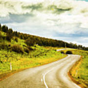 Empty Asphalt Road In Countryside Art Print