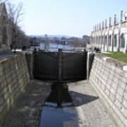 Empty Canal Lock Art Print by Richard Mitchell