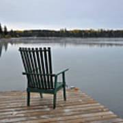 Empty Chair On Autumn Morning Art Print
