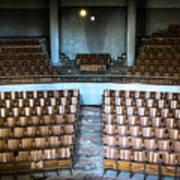 Empty Movie Theater - Urban Exploration Art Print