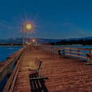 Empty Pier Glow Art Print