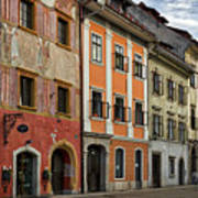 Empty Street In Slovenia Art Print
