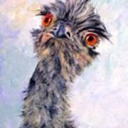 Emu Twister Art Print