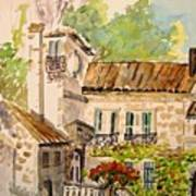 En Plein Air At Moulin De La Roque France Art Print