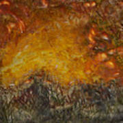 Encaustic Sky Blaze Art Print