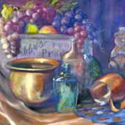 Enchanced Still Life Honey Bear Art Print