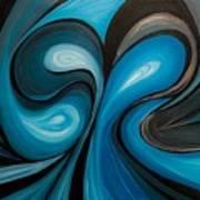 Enchanted Blue Waves Art Print