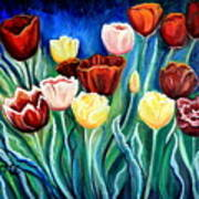 Enchanted Tulips Art Print