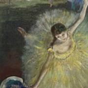 End Of An Arabesque Print by Edgar Degas