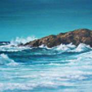 End Of Cliff Walk  Ledge Road Newport R.i. Art Print