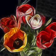 Energetic Tulips Art Print
