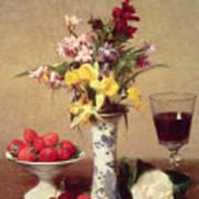 Engagement Bouquet Art Print